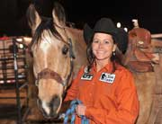 Lisa Lockhart and Louie at the 2010 NFR